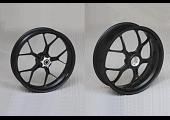Forged Aluminium Racing wheel set, 5 spoke, PVM, Front 3.50 x 17, Rear 5.0 x 17, Satin Black