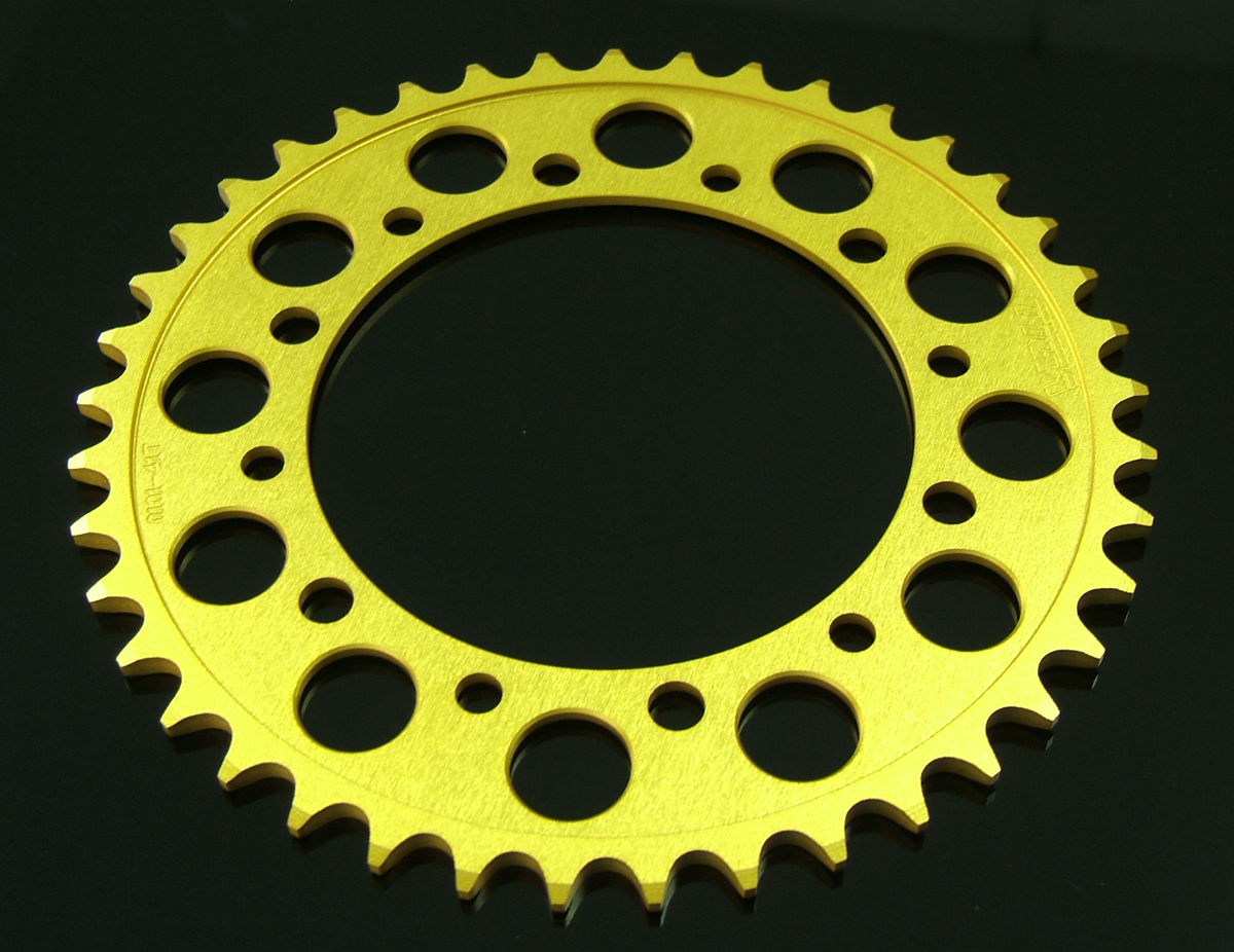 Sprocket, Rear 41T, #525, Stock, Aluminium, (Gold), NC35